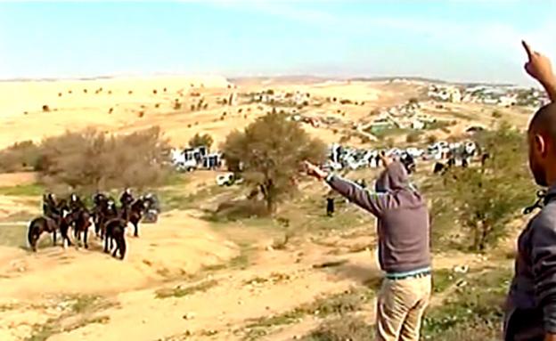 מבצע הריסת מבנים כפר חורה (צילום: חדשות 2)