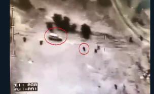 האירוע באום אל-חירן (צילום: צילום מסך מתוך הסרטון של המשטרה)