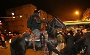 הפרות סדר במהלך הלילה בירושלים (צילום: TPS, הלל מאיר)