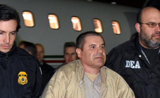 """""""אל צ'אפו"""" מוסגר לידי הרשויות בארה""""ב (צילום: CNN)"""