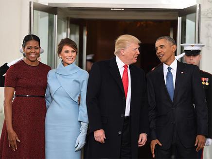 הצוות הנכנס והצוות היוצא מהבית הלבן