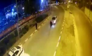 תיעוד: פוגע בשוטר ונמלט מהמקום (צילום: דוברות המשטרה)