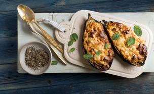 פפוצקיה - חצילים חצויים ממולאים בפטה ויוגורט (צילום: שני בריל, אוכל טוב)