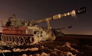 טנק השמיד עמדת חמאס ברצועה (צילום: רויטרס)