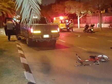 """אופניים חשמליים - תאונות דרכים (צילום: תיעוד מבצעי מד""""א)"""