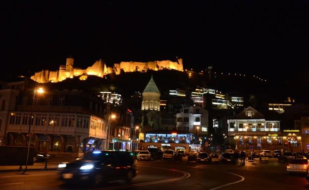 מרכז העיר טביליסי בלילה (צילום: אורן סטלקול)
