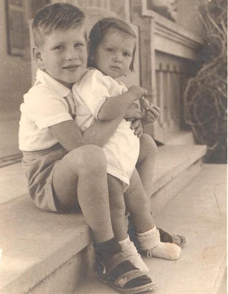 מאשקה וארנון 1949 (צילום: אלבום משפחתי, מאשקה ליטבק)