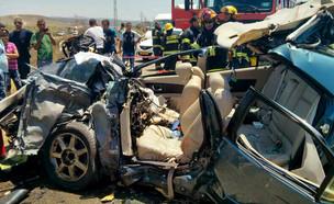 תאונה (צילום: חדשות 2, כבאות צפון)
