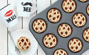עוגות פאי תותים אישיות (צילום: ענבל לביא, אוכל טוב)
