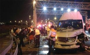 תאונה בכביש 6 (צילום: חדשות 2)