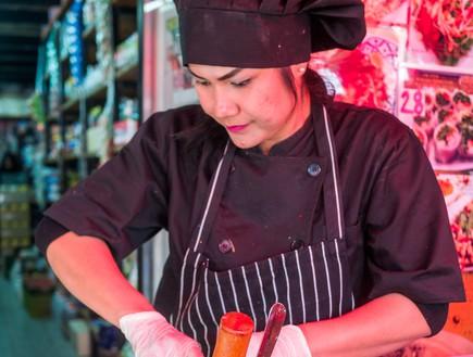 דוכן תאילנדי, שוק הכרמל