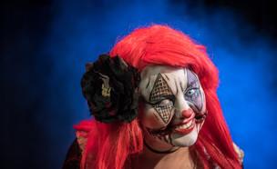 ליצנית מפחידה (צילום: Chris Cornish, Shutterstock)