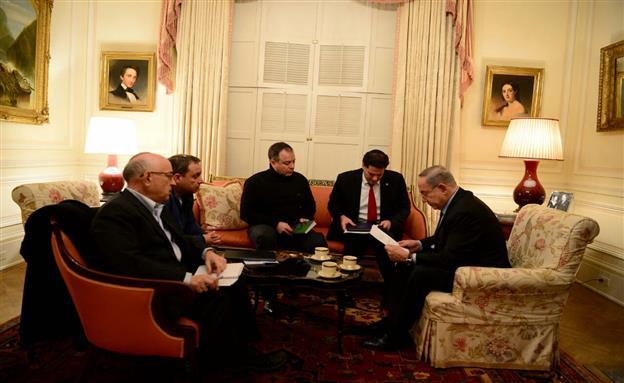 """שידור חי: פגישת נתניהו-טראמפ (צילום: לע""""מ)"""