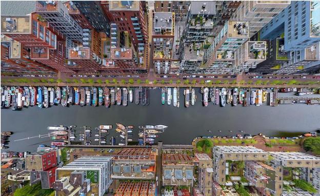 המזח המערבי, אמסטרדם (צילום: מתוך האינסטגרם של airpano)