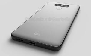 הדמיה מודלפת של גוף הסמארטפון מדגם G6 של LG