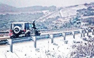 שלג יירד בהרי הצפון (צילום: עדי יוספוביץ)