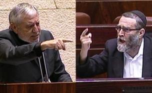 צפו בעימות החריף אחרי ההצבעה (צילום: ערוץ הכנסת)