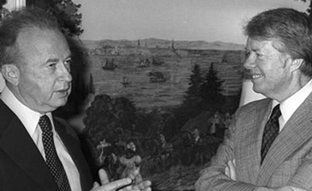 יצחק רבין וג'ימי קרטר