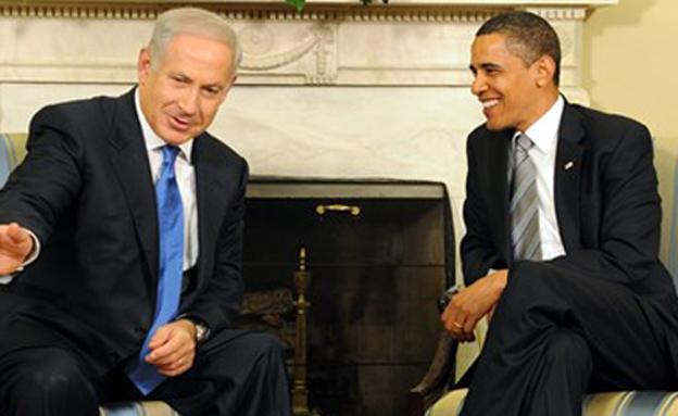 """ראש הממשלה בנימין נתניהו עם הנשיא אובמה (צילום: צילום: משה מילנר, לע""""מ)"""