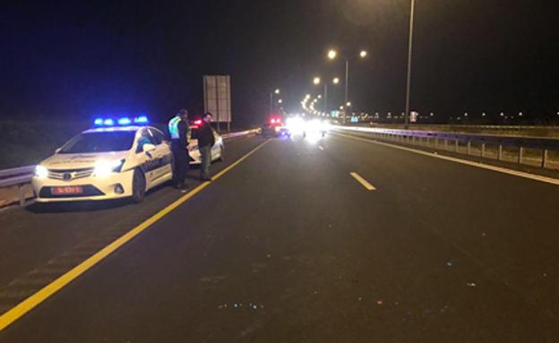 כביש 6 נסגר לתנועה (צילום: דוברות המשטרה)