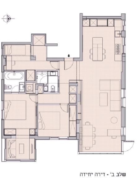 ברונשטיין ברכה, תוכנית שלושת השלבים (1) (צילום: ברונשטיין ברכה אדריכלות ועיצוב)