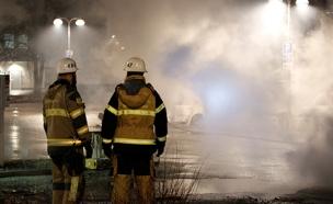 תיעוד מהמהומות שפרצו בשבדיה (צילום: רויטרס)