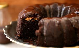 עוגת שוקולד וחמאת בוטנים (צילום: קרן אגם, אוכל טוב)