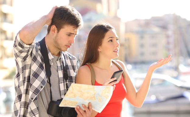 תיירים מבולבלים (צילום: Antonio Guillem, Shutterstock)