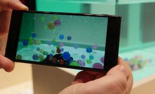 סמארטפון Xperia XZ Premium עם מצלמת הילוך איטי (צילום: אהוד קינן, ברצלונה, NEXTER)