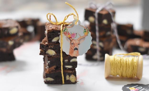 בראוניז שלושה שוקולדים (צילום: חן ואלון קורן, אוכל טוב)