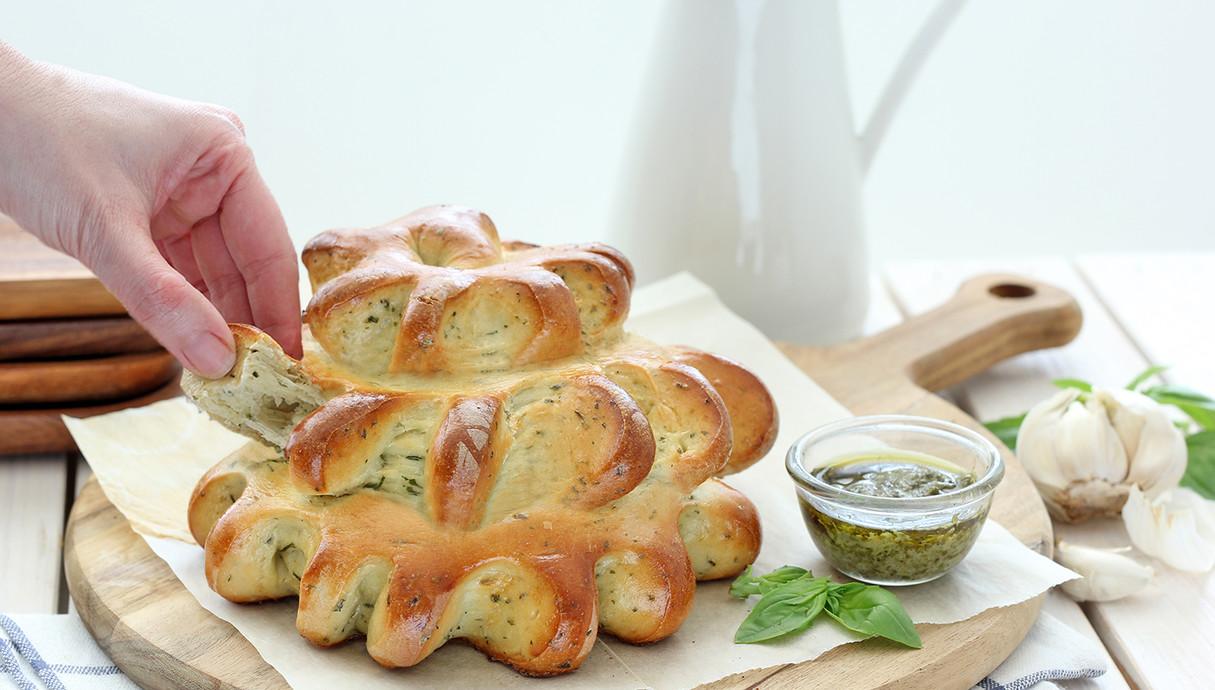 לחם שום ויוגרט