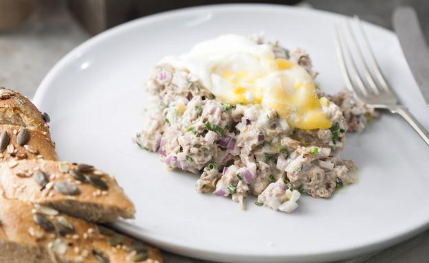 סלט טונה וביצה עלומה (צילום: אפיק גבאי, אוכל טוב)
