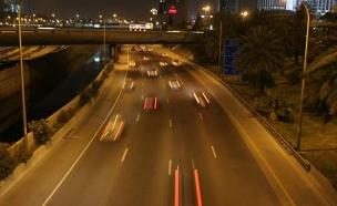 תיעוד: נוסע נגד התנועה בכביש החוף (צילום: שי פוקס, חדשות 2)