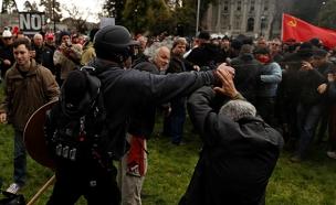 """הפגנות בארה""""ב (צילום: חדשות 2)"""