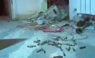 תיעוד מהזירה לאחר חילופי האש (צילום: טלוויזיה הפלסטינית)