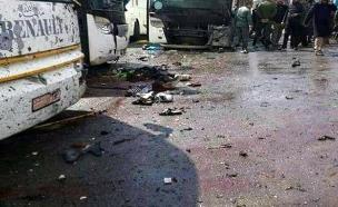 זירת הפיגוע לאחר הפיצוץ (צילום: רויטרס)
