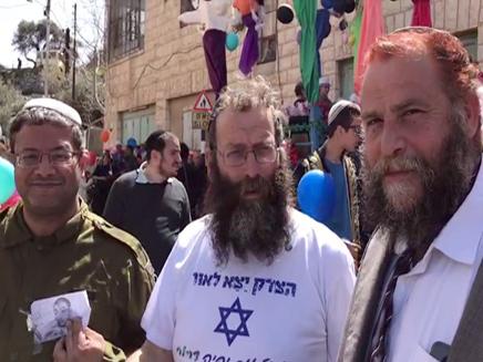פעילי הימין הגיעו לעדלאידע בחברון (צילום: באדיבות אתר ערוץ 7)
