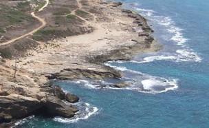 החוף בראש הנקרה (צילום: איל שפירא)