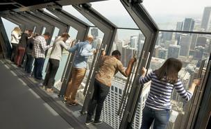 מרפסת תצפית מפחידה בשיקגו (צילום: 360 chicago)