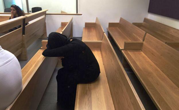 הראל בבית המשפט ביום ההרשעה (צילום: אסף בינדר, חדשות 2)