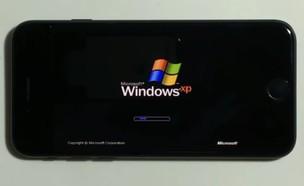 אייפון 7 מריץ את מערכת ההפעלה ווינדוס XP (צילום: Hacking Jules / YouTube)