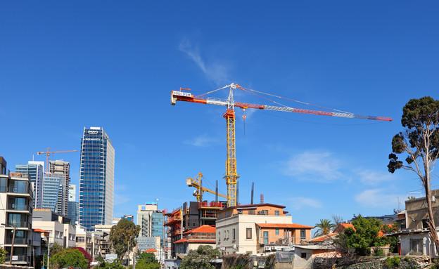 בנייה בתל אביב (צילום: Shutterstock)