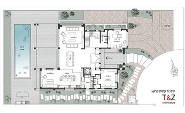 יונת אטלס, תוכנית קומת קרקע (צילום: T&Z)