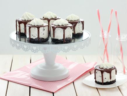עוגת גבינה וקרם עוגיות ללא אפייה