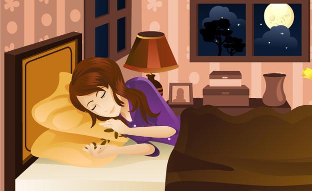 דברים של בנות - ישנה (איור: Shutterstock, מעריב לנוער)