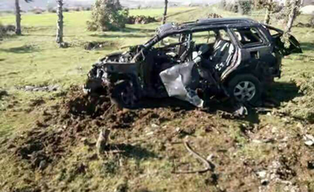 הרכב שא-סייד נסע בו והופצץ