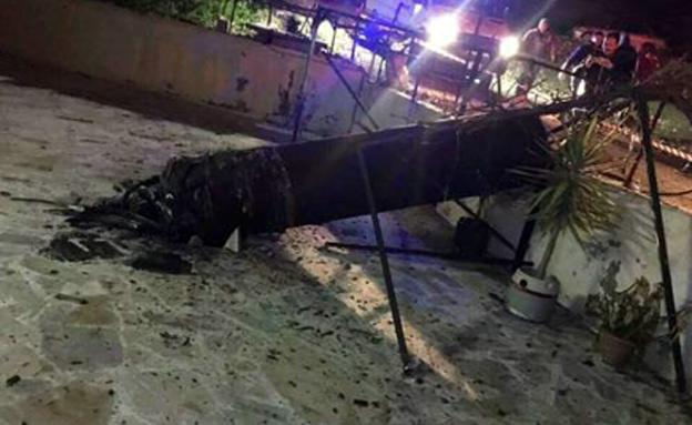 הטיל הסורי שהופל בשטח ירדן
