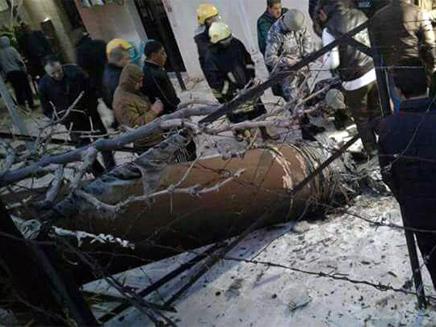 שרידי הטיל הסורי