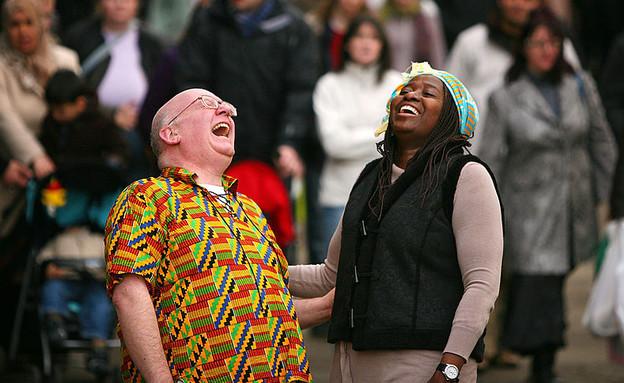 יועצי צחוק באנגליה (צילום: Christopher Furlong, GettyImages IL)