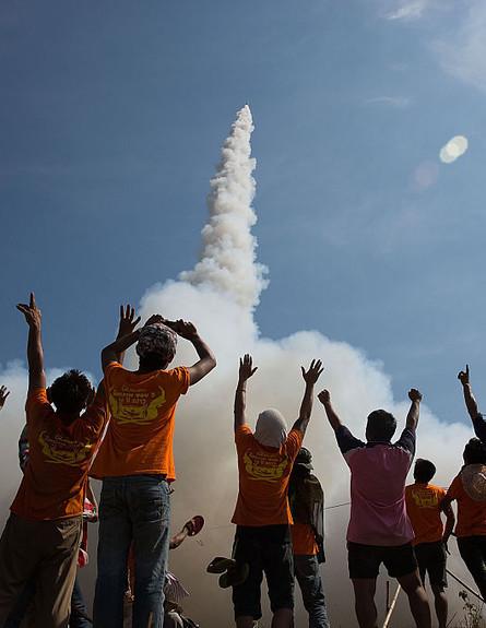 פסטיבל טילים בתאילנד (צילום: Gettyimages IL)